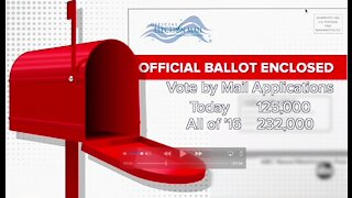 Absentee ballot applications are flooding in to Cuyahoga County's Board of Elections