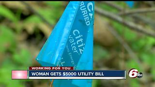 Indy woman fighting $5k water bill from when she was out of town - Video