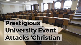Prestigious University Event Attacks 'Christian Privilege' 4 Days After Easter - Video