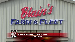Blaine's Farm and Fleet matching donations to Toys for Tots