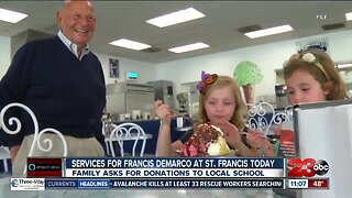 Services for Francis DeMarco at St. Francis Wednesday
