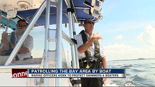 Marine Officers work to protect swimmers, boaters