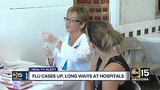 Arizona flu cases on the rise, increasing wait times at hospitals