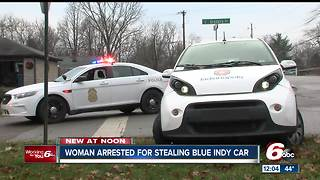 BlueIndy car stolen, suspect in custody