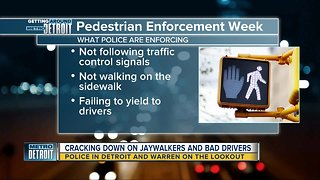 Michigan State Police cracking down on jaywalkers, bad drivers