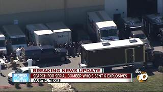 Search for serial bomber in Austin, Texas - Video