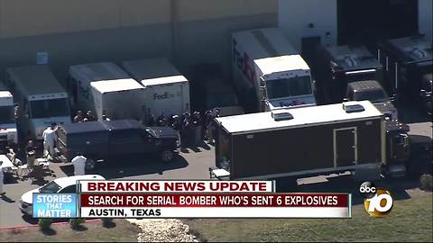 Search for serial bomber in Austin, Texas