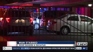 Man stabbed near Sahara, Decatur - Video