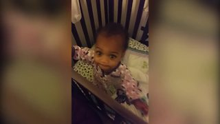 """Baby Girl Dances In Her Crib To Dad's Beatboxing"""