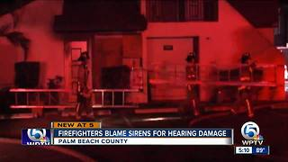 Some Boca Raton, West Palm Beach and Palm Beach County firefighters sue over siren noise - Video