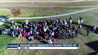 Erie neighbors host demonstration in front of nearby fracking site - Video