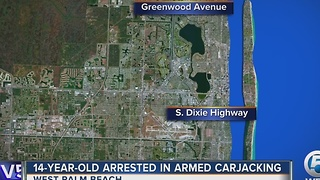 14-year-old arrested in armed carjacking - Video