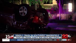 One killed in southwest Bakersfield crash - Video