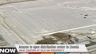 Amazon building fulfillment center in Livonia - Video