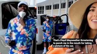 Floyd Mayweather Threatens To Knock Random Dude Out In Front Of His Wife For Taking A Pic Of His Car