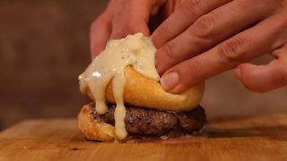 FORK YEAH (NYC): The Burger Bomb @ Raw Material - Video