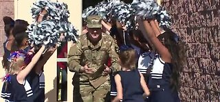 Military father surprises kids at school