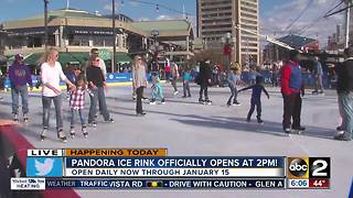 Pandora Ice Rink at Inner Harbor now open - Video