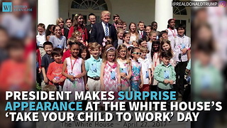 President Makes Surprise Appearance At The White House's 'Take Your Child To Work' Day - Video