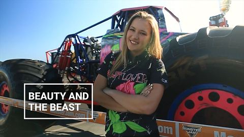 Queen of the tracks: World's youngest monster trucker