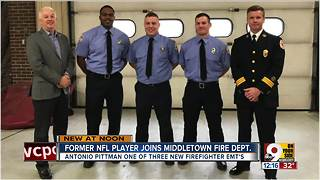 Middletown fire department hires former NFL player - Video