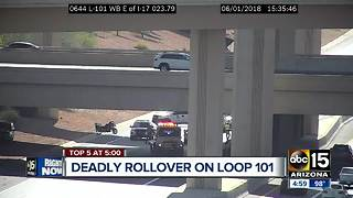 Deadly rollover crash being investigated on Loop 101