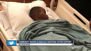 Community shows support for 8-year-old shooting victim - Video
