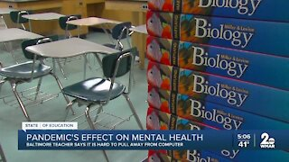 Baltimore teacher touches on how the pandemic has affected her mental health