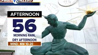 Metro Detroit Forecast: Morning rain ending