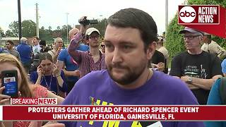 Military veteran speaks outside Richard Spencer event - Video
