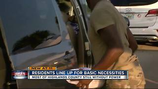 Highlands County Residents getting basics
