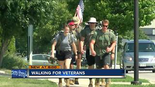Students march for veteran suicide awareness