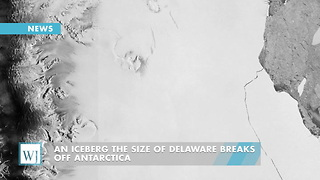 An Iceberg The Size Of Delaware Breaks Off Antarctica - Video