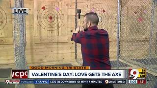 Get some aggression out and work your lower back with ax-throwing! - Video