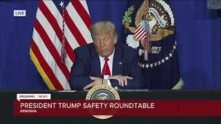 President Donald Trump announces funding for law enforcement, small businesses in Kenosha