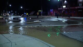 Water main break closes West 140th Street and Lorain Avenue