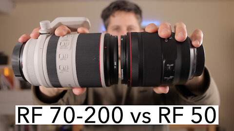 Canon RF 70-200mm vs RF 50mm | zoom vs fixed focal length | EOS R, R5 and R6 [4K]