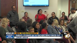 Parents, students say 16 teachers being forced out