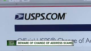 Beware of change of address scams