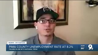 Pima County unemployment rate improves to 8.2%