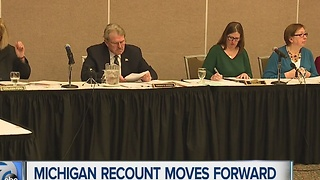Michigan recount moves forward