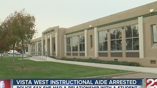 Vista West instruction aide arrested for relationship with student - Video