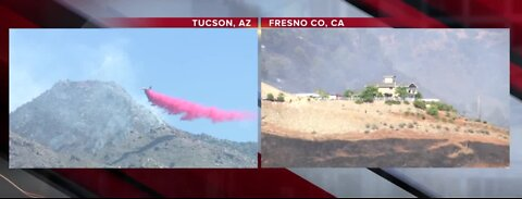 Firefighters rescued from wildfire
