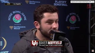 Baker Mayfield Breaks The Silence On His Condition For The Rose Bowl - Video