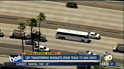 CBP transferring migrants from Texas to San Diego