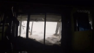Waves Pound Oceanfront Home During Hurricane Matthew - Video