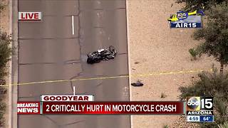 Two motorcyclists badly hurt in Goodyear crash - Video