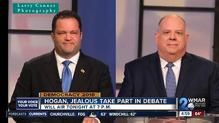 Hogan, Jealous face off in only gubernatorial debate ahead of election