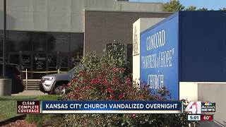 Vandals spray paint racist symbols on KC church - Video