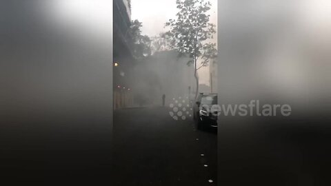'I can't breathe': Clerkenwell covered in smoke as shop goes up in flames in central London
